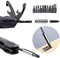 ORSIFOW Cuchillo Multiusos, Herramienta Multiuso Inoxidable 13 en 1 | Alicates Plegables & Cuchillo | Destornillador & Abrebotellas | Incluye ...