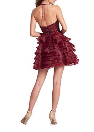 Promworld Cocktail Hellblau Kleid Damen