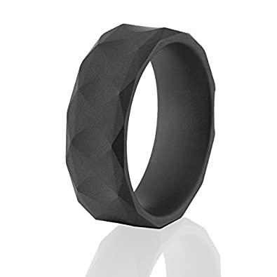 Military Matte Black Ceramic Rings Mens Wedding RingsAmazoncom