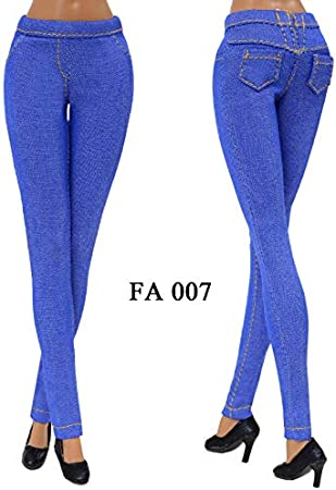 Elenpriv FA-007 Jeans Denim Pants Color4 for 11 1//2 inches Doll Clothes Outfit Fashions for Dolls