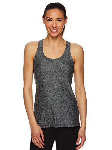 HEAD Women's Racerback Tank Top - Sleeveless Performance Activewear Shirt w/Open Back Options - Lead Tank Black, Small