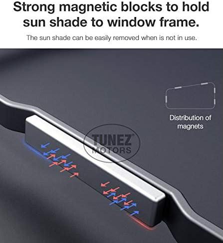 TUNEZ/® Pare-soleil magn/étique pour fen/être lat/érale Pare-soleil pour fen/être de voiture Compatible avec Ford Kuga 5 portes ann/ée 2012