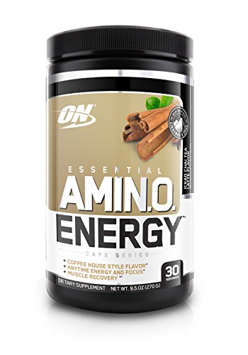 Optimum Nutrition Amino Energy, Iced Chai Tea Latte, Preworkout and Essential Amino Acids with Green Tea and Green Coffee Extract, 30 Servings
