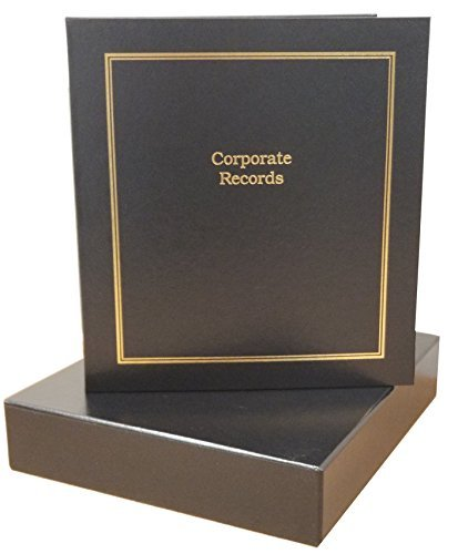 and Metal Corporate Seal Embosser Index Tabs Slipcase Black Minutes /& Bylaws Stock Certificates Binder Corporate Kit