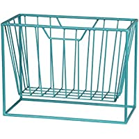 Metal Accent Tables 16 Inch Long Bright Blue Metal Magazine Rack 12 X 16 X 7.5 Inches Blue