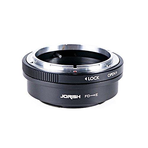 Jorish Canon FD Lens to Sony E-Mount NEX Camera NEX-5R NEX-5T NEX-6 NEX-7 a6500 a6300 a6000 a5100 a5000 a3500 a3000 NEX-VG30 NEX-VG900 NEX-FS100 NEX-FS700 NEX-EA50 PXW-FS7 Adapter