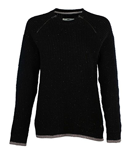 Vans Women's Zippered Cosmic Sweater-Black-Small