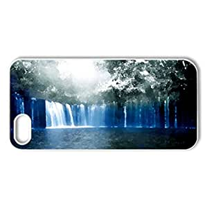BEAUTIFUL WATERFALLS - Case Cover for iPhone 5 and 5S (Waterfalls Series, Watercolor style, White)