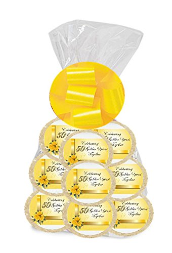 Happy 50th Anniversary 24Pack Freshly Baked Individually Wrapped Party Favor Sugar Cookies
