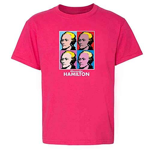 (Alexander Hamilton Pop Art Pink M Youth Kids T-Shirt)