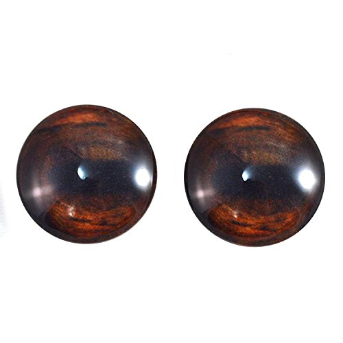 20mm Pair of Brown Horse Glass Eyes, for Jewelry Making, Arts Dolls, Sculptures