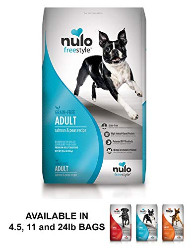 Nulo Grain Free Dog Food: All Natural Adult Dry Pet Food For Large And Small Breed Dogs (Salmon, 11Lb)