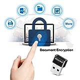 Benss USB Fingerprint Reader Analyzer for Windows 7 8 10 Hello, Wireless Fingerprint Scanner Security Login Lock with WQHL Certification for PC Laptop, 2 Years Warranty Black
