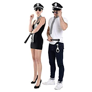 Zac's Alter Ego 6 Piece Unisex Fancy Dress Instant Police Kit