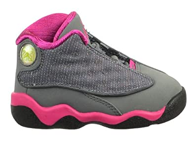 more photos 9d3e3 61c22 Jordan 13 Retro (TD) Baby Toddler Shoe Cool Grey Fusion Pink-White