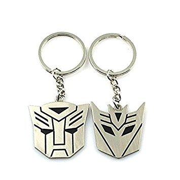 Metal Transformers Autobot & Decepticon Symbol Keychain [ONE PAIR]
