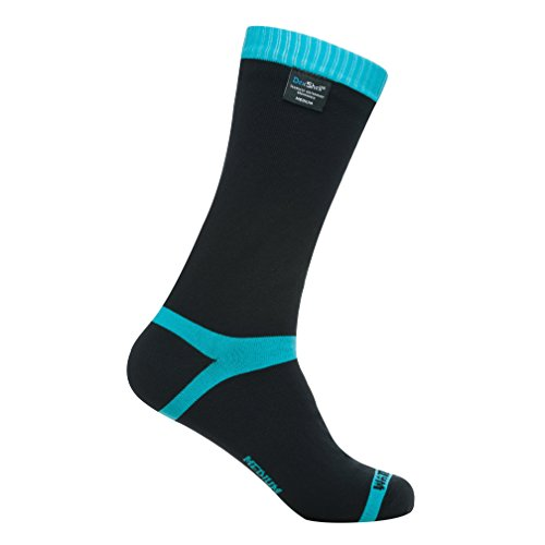 Dexshell Coolvent Mid-Calf Waterproof Socks, Aqua Blue, Large