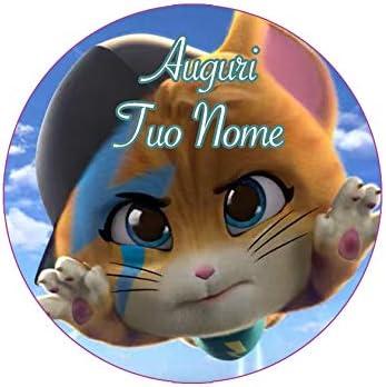 Partycolare Cialda per Torta Tonda 44 Gatti da Personalizzare gatti006