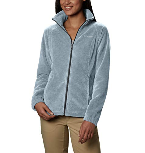 Columbia Women's Benton Springs Classic Fit Full Zip Soft Fleece Jacket, Cirrus Grey Heather, Medium