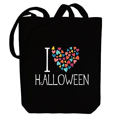 Idakoos I love Halloween colorful hearts Bereich für Taschen 6RoL04