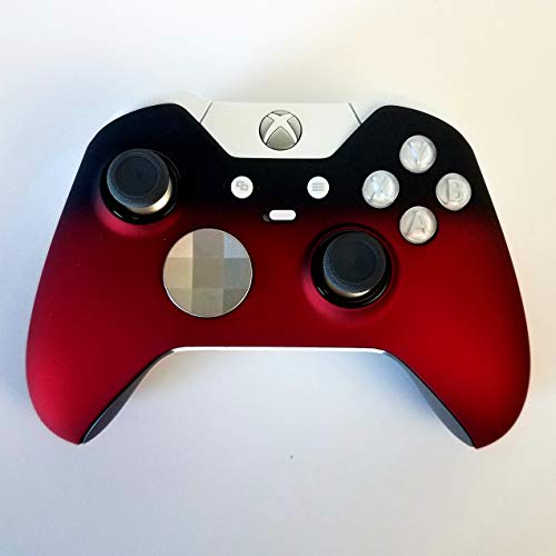 Modded White Elite Controller Xbox One - 7 Watts Rapid Fire Mod - Limited Edition Fade to Black