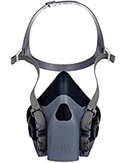 3M Reusable Respirator, Half Face Piece 7503, Use With Bayonet Cartridges/Filters (not included) for Gases, Vapors, Dust, Large Size