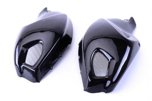 Ducati Cover Tank (Bestem CBDu-696-TSP Black Carbon Fiber Side Tank Covers for Ducati Monster 696 796 1100)
