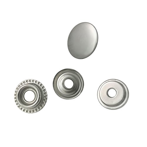 80 Pieces Stainless Steel Fastener Snap Set, Include Button Stud Socket and Eyelet,12.55mm Cap (Studs Socket)
