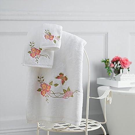 Bordados de algodón lavar la toalla de baño, toalla facial, bufanda cuadrada, hogar de niños y adultos,B: Amazon.es: Hogar