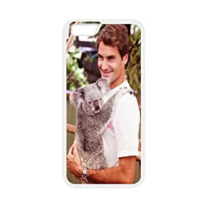 IPhone 6 Plus Cases, Roger Federer Animal Cute Cheap Cases for IPhone 6 Plus {White}