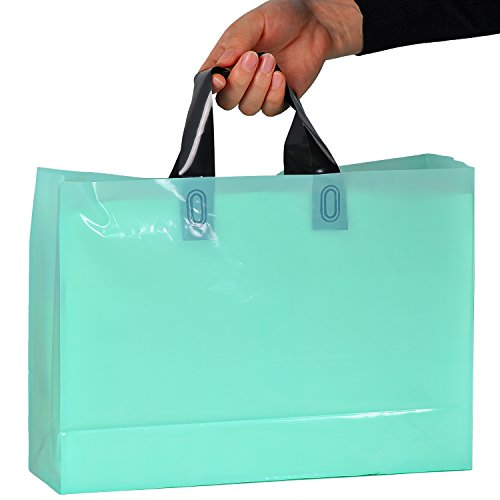 Boutique Shopping Bags 100 Glossy Purple And Teal Plastic