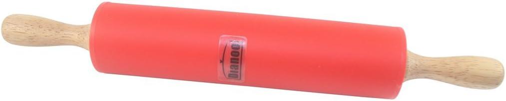 Orange cuisson Antiadh/ésif silicone surface roulant /épingle avec en bois manipuler pour la p/âte /à rouler 1PCS Dianoo roulant /épingle 9 Pouce