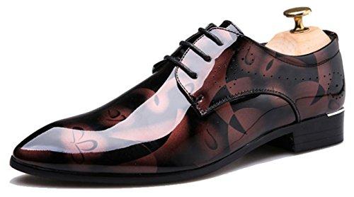 Scarpe poliestere 46 45 uomo grandi pelle red derby da da dimensioni scarpe 48 sposa sera Scarpe in CYGG Scarpe 49 in stampa da oxford verniciata Scarpe 50 47 casual ngnq60Z