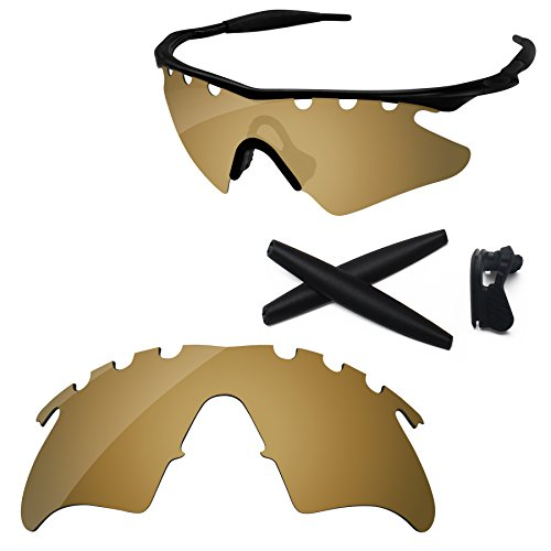 PapaViva Replacement Lenses & Rubber Kits for Oakley M Frame Heater Vented Bronze Golden - - Without Oakley Frames Lenses