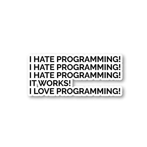 I Love Programming Sticker Geek Stickers - Laptop Stickers - 2