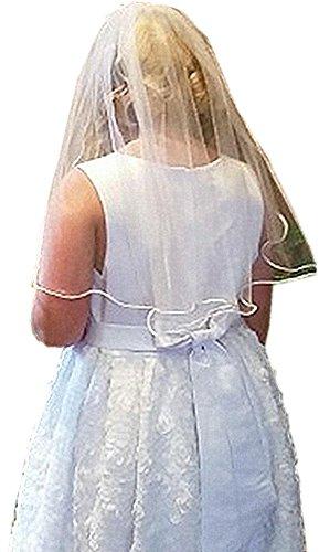 Shop Ginger Wedding Flower Girls 1 Tier First Communion Wedding Flower Party Veil (White) Flower Girl First Communion Veil
