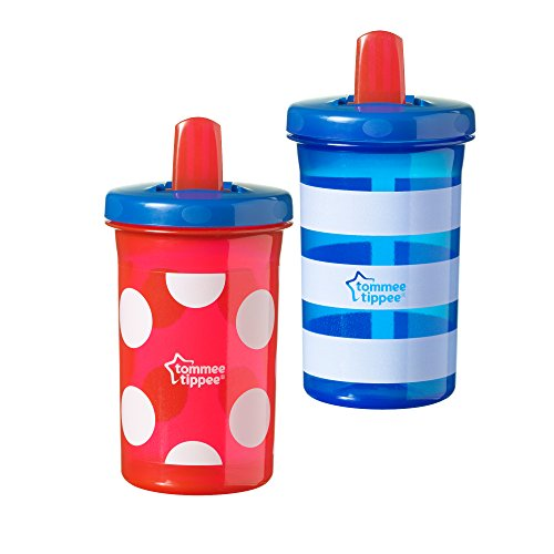 Tommee Tippee Free Flow Cup, Leak-Proof,Microwave and Dishwasher Safe, BPA-Free, 10 Ounce, 2 Count (Colors May Vary)