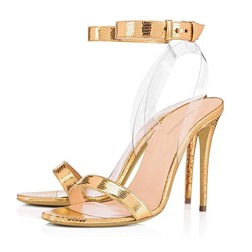 Elegant high shoes Frauen Transparent High Heels Schuhe Sommer/Herbst Heels/Plattform/Party & Abend/Kleid Yellow