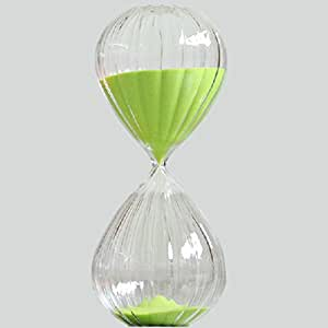 30/60 Minutes Hourglass Sand Timer Green Color Sand Creative Ornaments (30min)