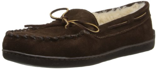 - Minnetonka Men's Pile Lined Hardsole Slipper,Chocolate,12 W US