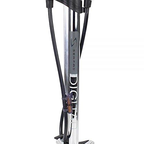 Serfas FPD-200 Digital Gauge Bicycle Floor Pump (Chrome)