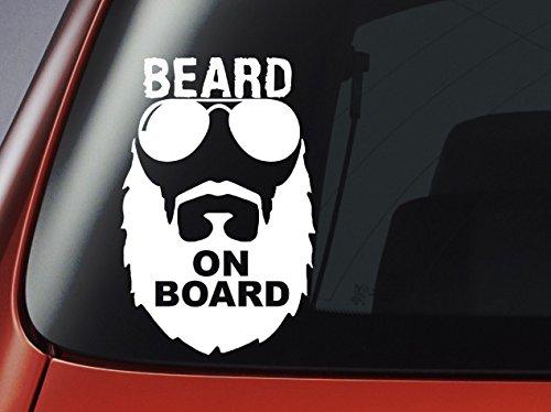 laptop Adesivo con motivo: Beard on Board per auto finestrino decalcomania da parete