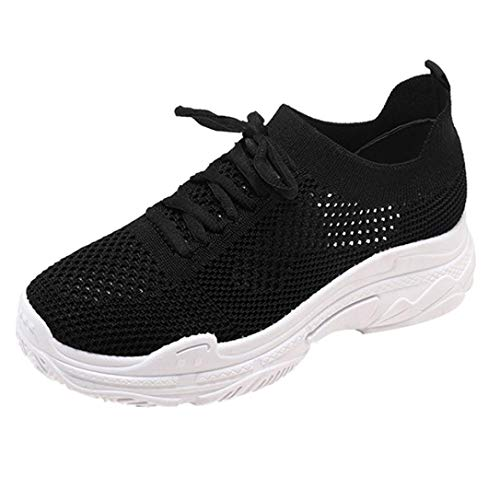 UOKNICE Clearance Fashion Women Shoes Casual Shoes Outdoor Walking Gym Running Shoes Student Sneaker Sports Shoes(Black, CN 40(US 7.5))