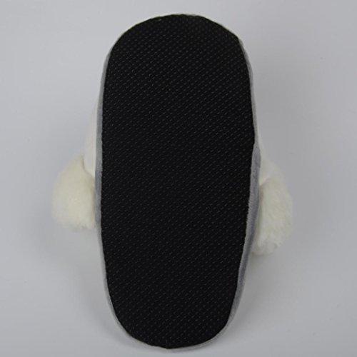 Blanc Maison Noël QinMM Chaud Licorne Hommes Femmes Migon Doux Chaussures Peluche Intérieur Coton Mesdames Pantoufles Dessin Hiver Animé Créatif FBRqf