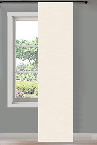 Schiebegardine Flächenvorhang Wildseide Optik Vorhang Gardine , 245x60 cm (Höhe x Breite) , Creme, 85620