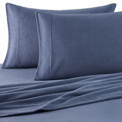 Oversized Berkshire Microloft Softer Sleep Sheet Set (Blue, Cal King) (Polar Sheet Fleece Set King)