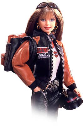 (Barbie Harley Davidson Doll Collector Edition # 4 w Back Pack (1999))