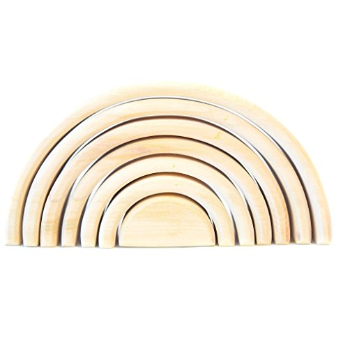 - WOODEN TOY RAINBOW STACKER Montessori Waldorf Learning toys Nesting Puzzle for Creative Sculpture Building Tunnel Arches Block Stacker in Natural Wooden Stacking & Nesting Educational Wooden TOYS