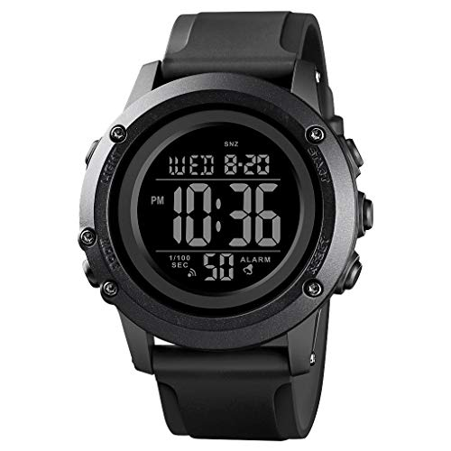 Men's Digital Sports Watch Large Face Waterproof Wrist Watches for