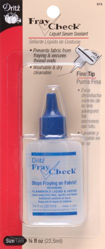 Dritz 674 Fray Check Liquid Seam Sealant, 0.75-Ounce